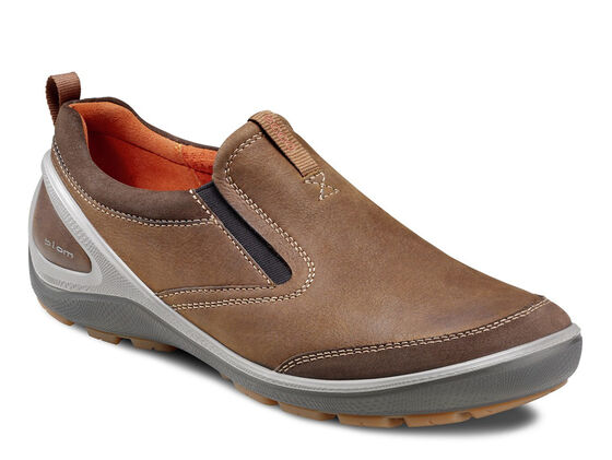 ECCO Mens Creek Slip On (DARK CLAY/CAMEL)