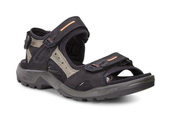 ECCO Mens Yucatan Sandal (BLACK/MOLE/BLACK)