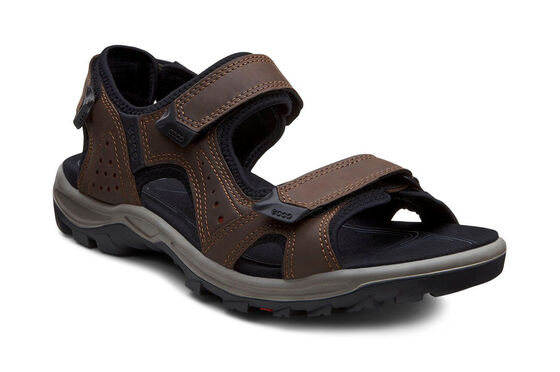 ECCO Mens Cheja Sandal  - color: COFFEE/BRICK (51015), size: 45 (COFFEE/BRICK)