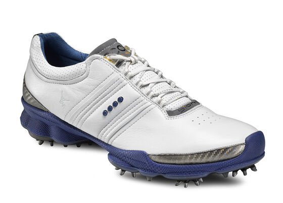ECCO Mens BIOM Golf Hydromax (WHITE/MAZARINE BLUE)