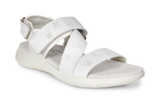 ECCO Soft 5 Cross Strap Sandal (WHITE/WHITE)