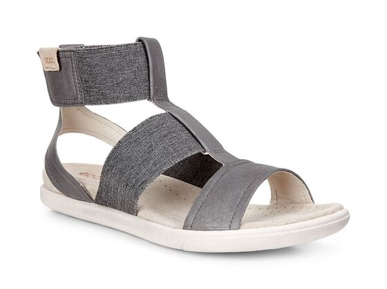 ECCO Damara Ankle Strap Sandal (DARK SHADOW/POWDER)