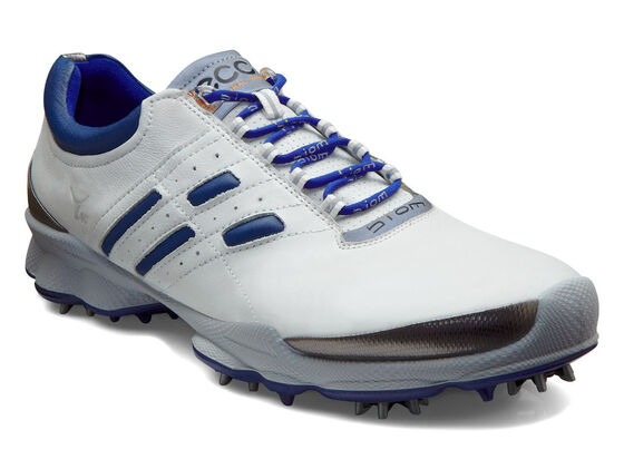 ECCO Mens BIOM Golf Lace (WHITE/DENIM BLUE)
