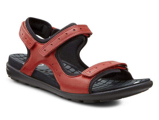 ECCO Jab Strap Sandal (CHILI RED/BLACK)
