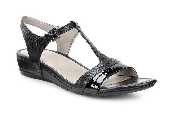 ECCO Touch 25 T-Strap Sandal (BLACK/BLACK)
