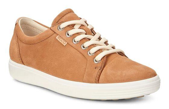 ECCO Womens Soft 7 Sneaker (CASHMERE)