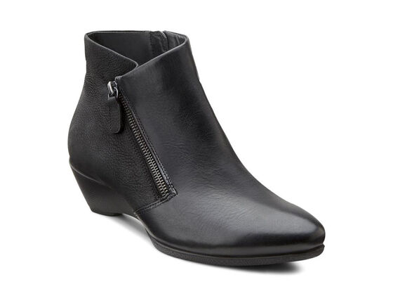 ECCO Sculptured 45 W Ankle Zip (BLACK/BLACK)