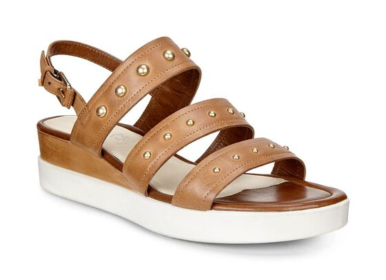 TOUCH SANDAL PLATEAU Strap Sandal (WHISKY)