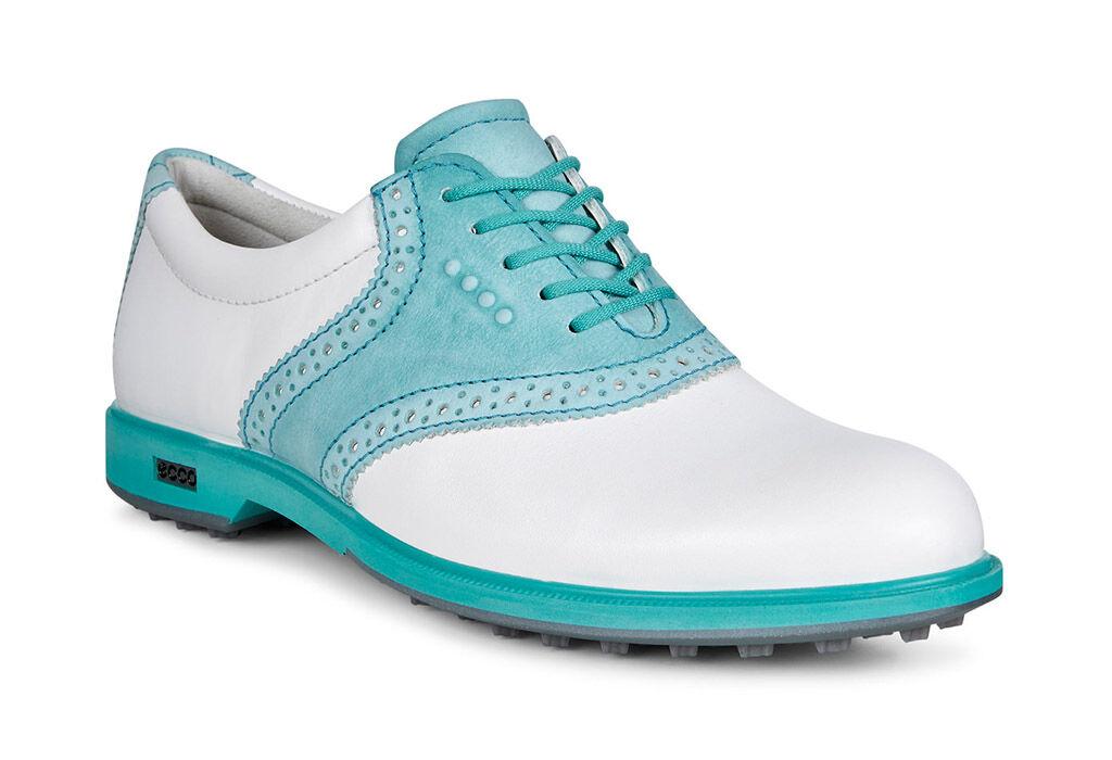 ECCO Golf - Classic Golf Hybrid II (White/Capri/Breeze) Women's Golf Shoes