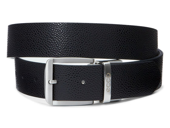 ECCO Dailey Mens Belt (BLACK/WHITE)