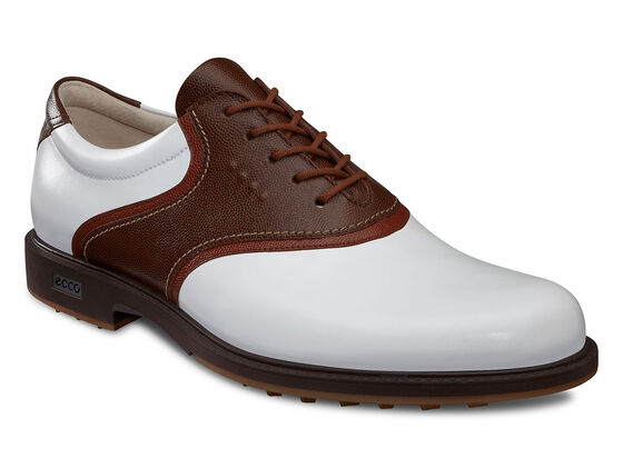 ECCO Mens Tour Hybrid Saddle (WHITE/COCOA BROWN/COGNAC)