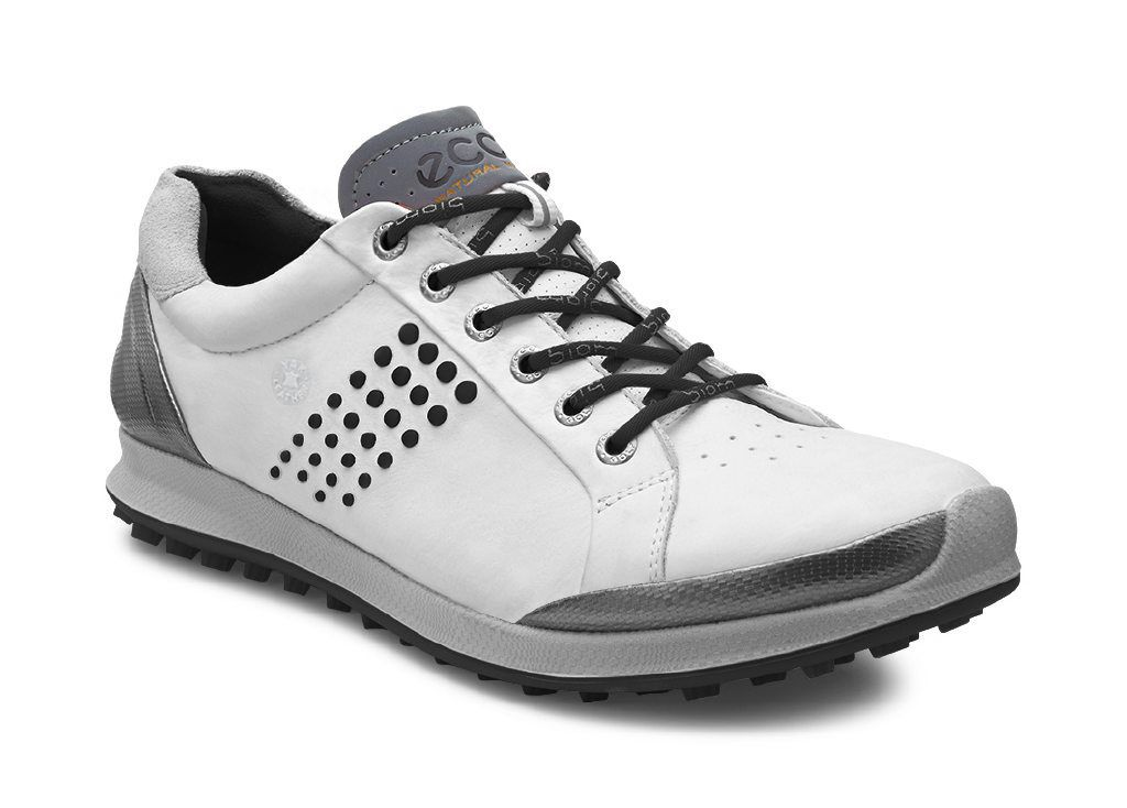 ECCO Golf - BIOM Hybrid 2 (Black/White) Men's Golf Shoes