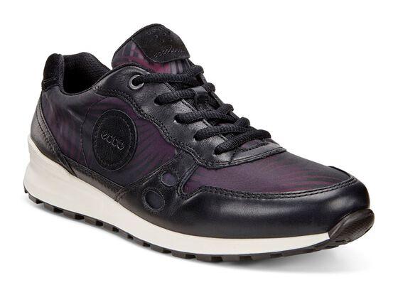 ECCO Womens CS14 Retro Sneaker (BLACK/BLACK PALM PRINT/BLACK)