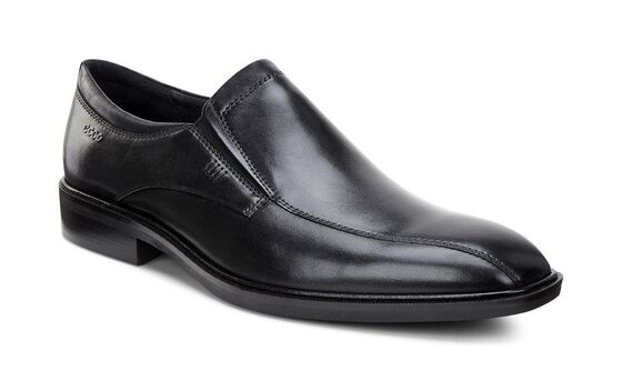 ECCO Illinois Bike Toe Slip On (BLACK)