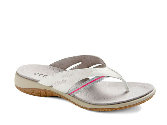 ECCO Womens Kawaii Thong (SHADOW WHITE/WILD DOVE-BEETROOT)
