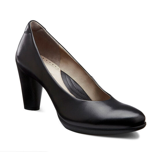 SCULPTURED 75mm Pump (BLACK)