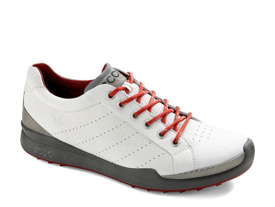 ECCO Mens BIOM Golf Hybrid (WHITE/BRICK)