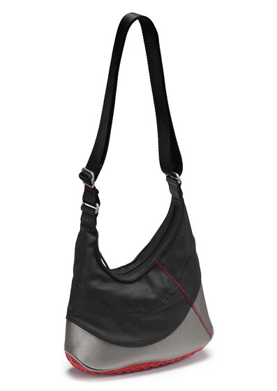 ECCO Performance Lite Hobo Bag (BLACK/POPPY)