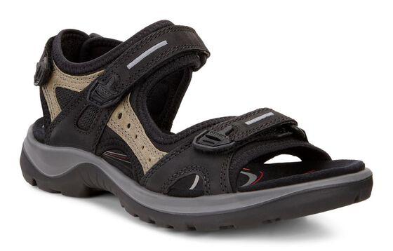 ECCO Womens Yucatan Sandal (BLACK/MOLE/BLACK)