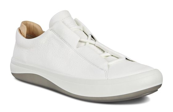 ECCO Mens Kinhin Low (WHITE/VEG TAN)