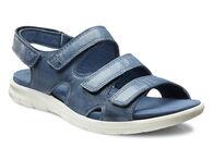 ECCO Babett 3 Strap Sandal (DENIM BLUE)