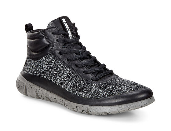 ECCO Womens Intrinsic 1 High (BLACK/CONCRETE)