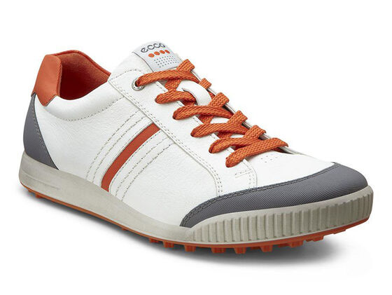 ECCO Mens Street Retro (WHITE/TITANIUM/ORANGE)