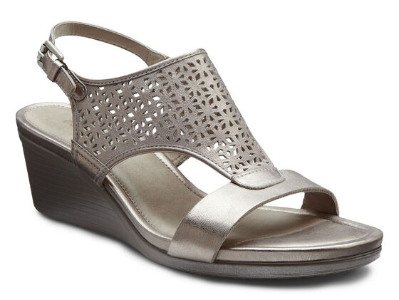 ECCO Touch Laser Cut Sandal (MOON ROCK)