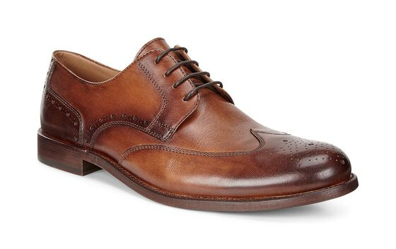 ECCO London Wing Tip Tie (AMBER)