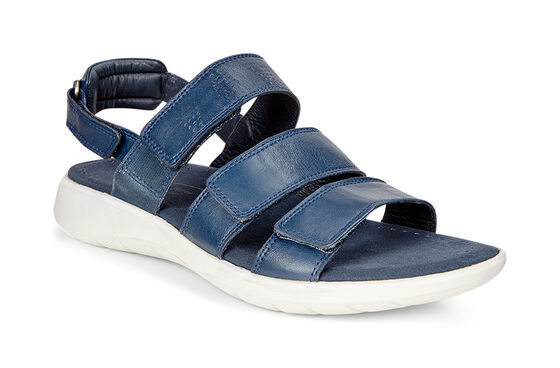 ECCO Soft 5 3-Strap Sandal (TRUE NAVY)