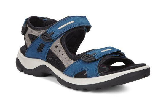 ECCO Womens Yucatan Sandal (POSEIDON/WARM GREY/BLACK)