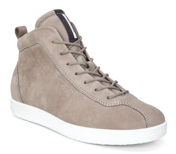 ECCO Womens Soft 1 High Top (WARM GREY)