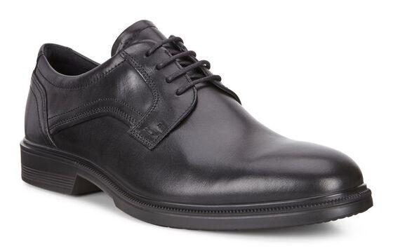 ECCO Lisbon Plain Toe Tie (BLACK)
