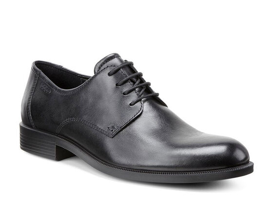 ECCO Harold Plain Toe Tie (BLACK)