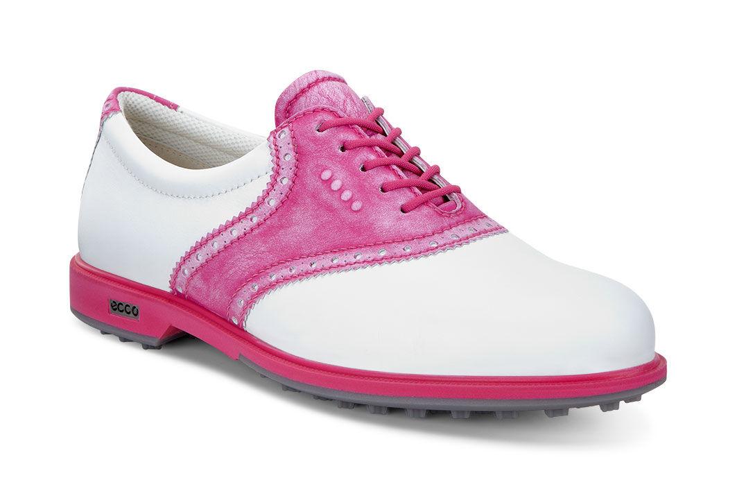 ECCO Golf - Classic Golf Hybrid II (White/Candy) Women's Golf Shoes