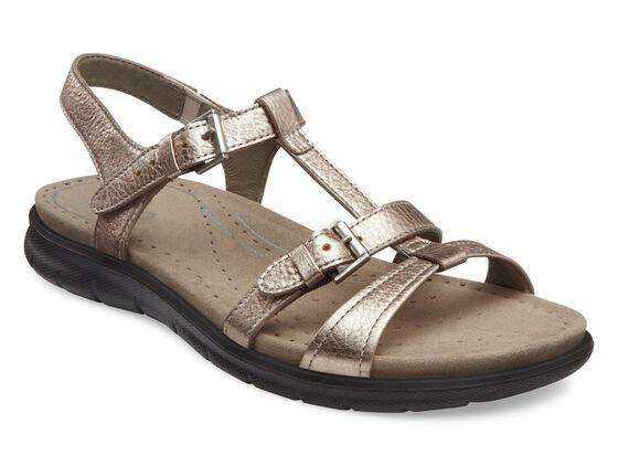 ECCO Babett Sandal T-Strap (WARM GREY METALLIC)