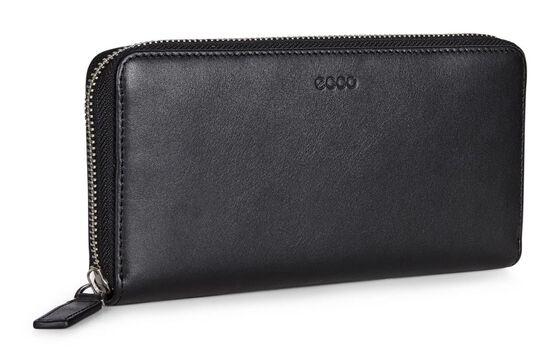 ECCO Hickson Large Zip Wallet (BLACK)