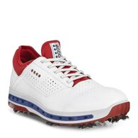 ECCO Mens Golf Cool 18 GTXECCO Mens Golf Cool 18 GTX in WHITE/TOMATO (50431)