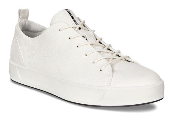 ECCO Womens Soft 8 Sneaker (WHITE)