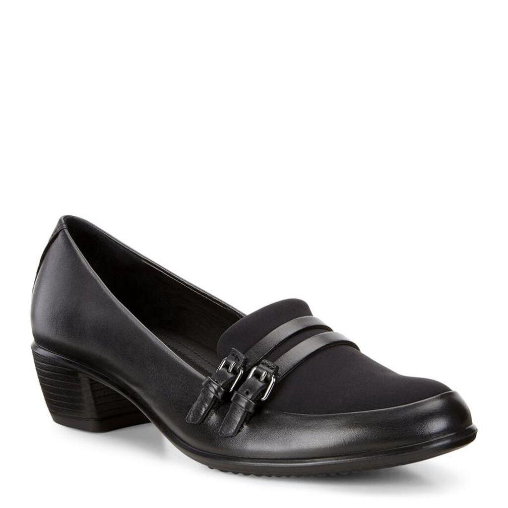 Black ecco sandals - Ecco Touch 35 Double Buckleecco Touch 35 Double Buckle In Black Black 53859