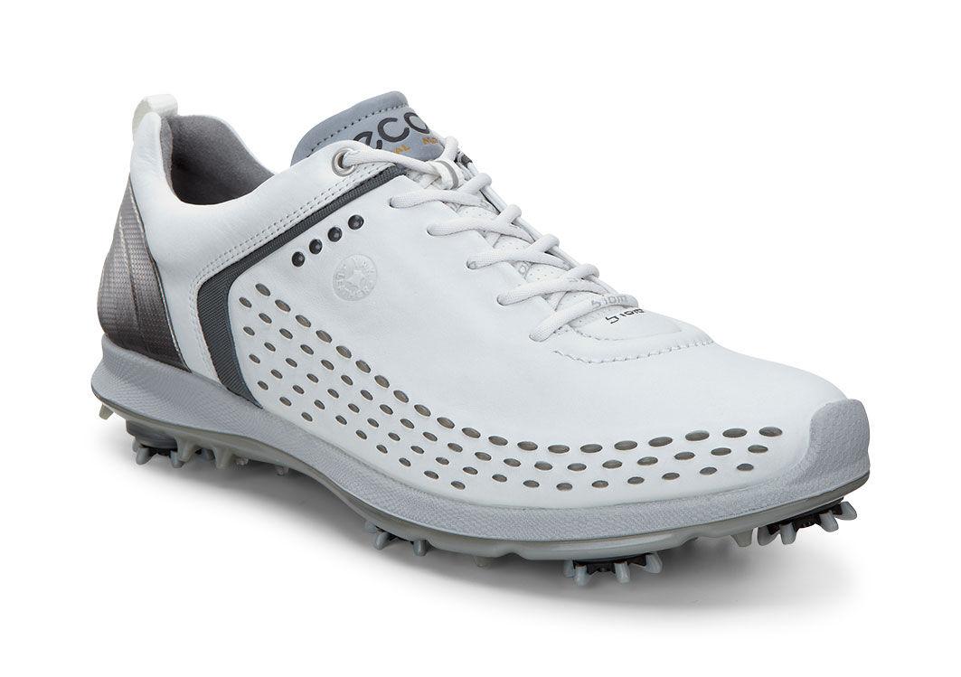 ECCO Golf - BIOM G 2 (White/Dark Shadow) Men's Golf Shoes