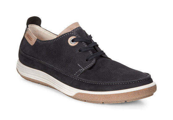 ECCO Chase II Moc Tie (BLACK/WHISKY)