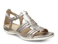 ECCO Flash Huarache Sandal (WARM GREY METALLIC)
