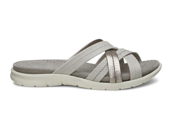 ECCO Babett Sandal Slide (GRAVEL/MOON ROCK/WARM GREY MET.)