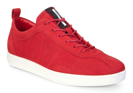 ECCO Womens Soft 1 Sneaker (CHILI RED)