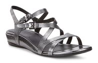ECCO Touch 25 Strap Sandal (DARK SHADOW METALLIC)