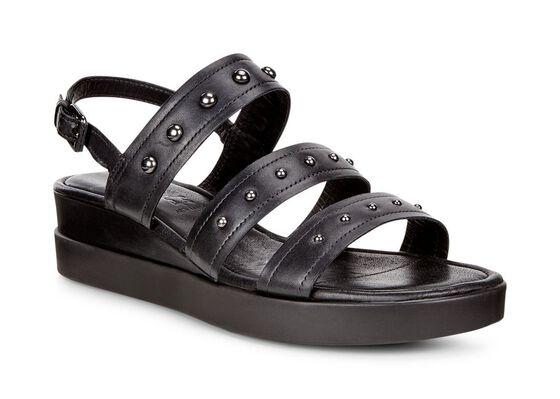 TOUCH SANDAL PLATEAU Strap Sandal (BLACK)