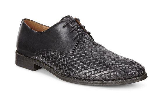 LEEDS Crocodilian Tie (BLACK/BLACK)