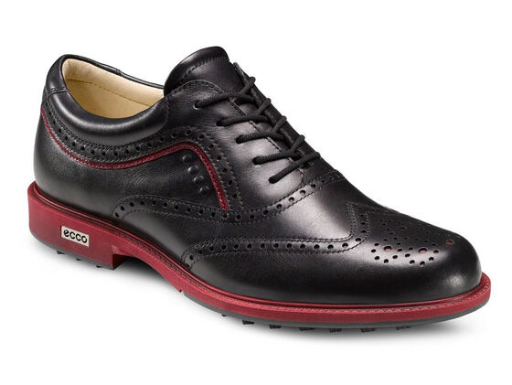 ECCO Mens Tour Hybrid Wingtip (BLACK/BRICK)