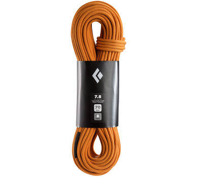 7.8 - 70m FullDry Half Climbing Rope, Orange, large